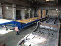 Valmis treiler ülejärgmise raami kõrval.