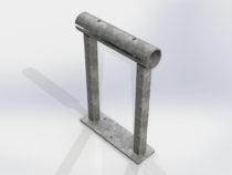 3D mudel lühikesest lehmaboksi piirde jalast