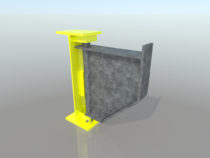 3D mudel projekteeritud küljelaiendist