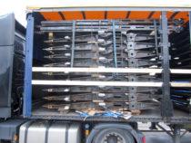 Pakk autoveo treileri sektsioone