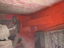 Valmis värvitud tugitoru ja remonditud praokoht