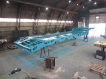 Värvitud treileri raam