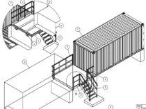 Tõstetud konteineri esine platvorm