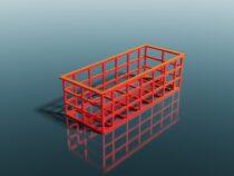 3D-mudel vanni karkass raamist